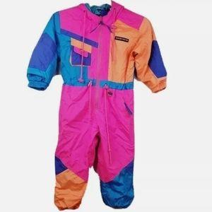 Vintage Sunice Kids Colorblock Ski Suit